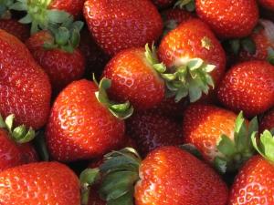 organic red_strawberries